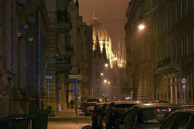The Akademia street in Budapest 4