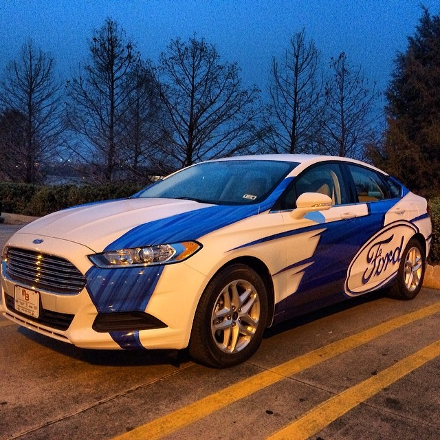 New #fordfusion wrapped for #newscopemarketing to promote