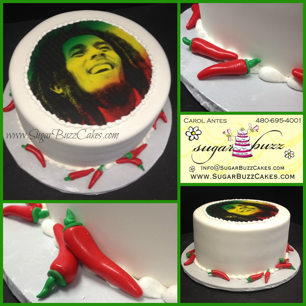 Terrific Bob Marley Birthday Cake Carol Flickr Personalised Birthday Cards Veneteletsinfo