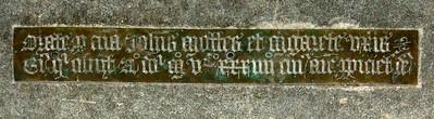 orate pro anima John Mutter et Elizabeth uxor eis