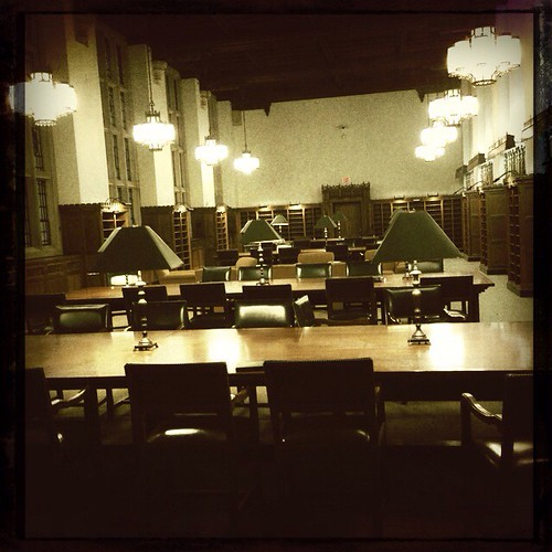 Sterling Memorial Library newspaper reading room | by knitwick
