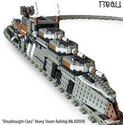"""Dreadnought-Class"" Heavy Steam Railship Mk.XXXVIII (10K Views)"