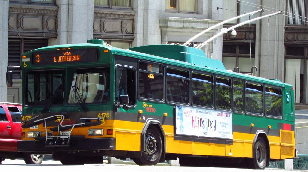 King County Metro 2001 Gillig Phantom Trolley 4175