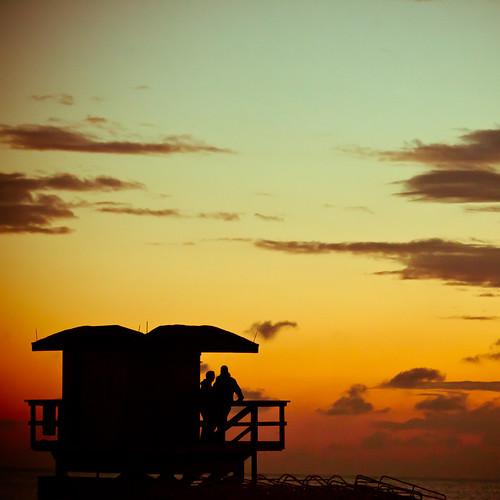 usa beach silhouette sunrise unitedstates florida fav50 miami unitedstatesofamerica miamibeach southbeach lifeguardstand fav10 fav25 fav100 miamidadecounty