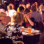 Happy crowd in the Guardian Spiegeltent |