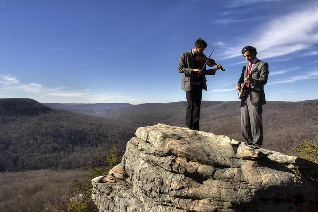 Nate Dodson & Seth Webster (The Mockingbirds), Welch Point overlook, Bridgestone Firestone Centennial Wilderness WMA, White Co, TN