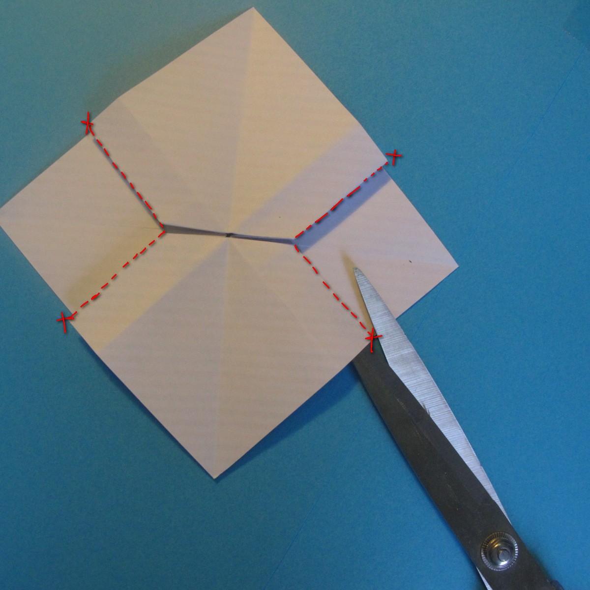 วิธีการพับกระดาษเป็นโบว์หูกระต่าย 017