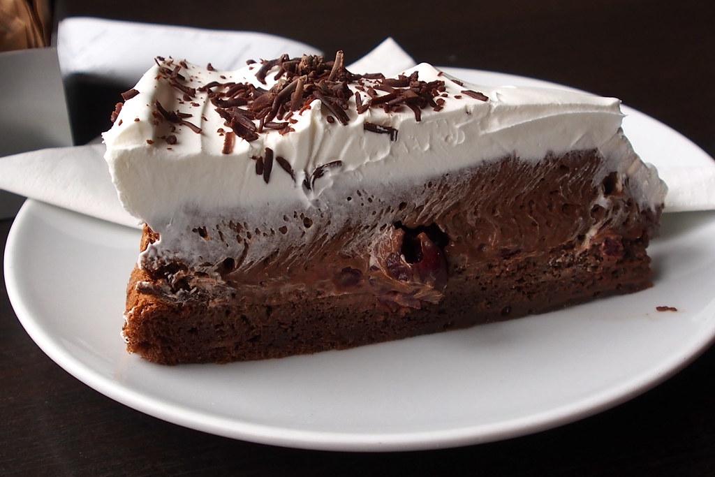 Chocolate cherry cake. Torte i to. Sarajevo.