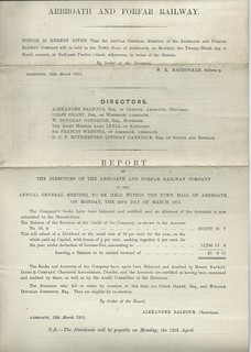 Arbroath and Forfar Railway directors report 1915 | by ian.dinmore