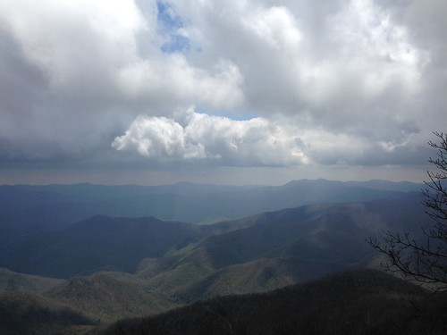 mountains clouds view