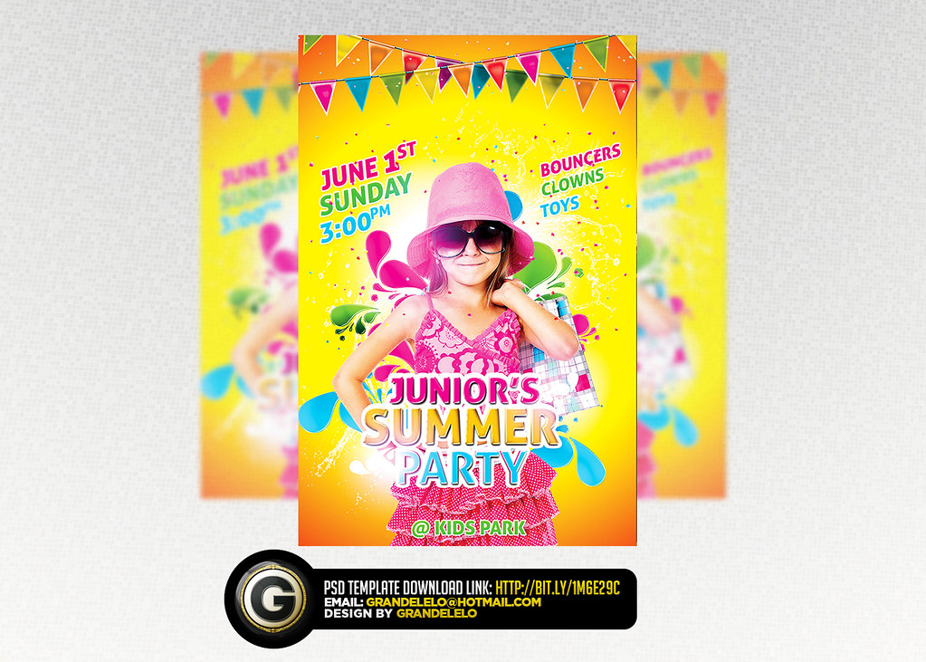 Kids Birthday n Summer Flyer Template PSD | YOU CAN DOWNLOAD