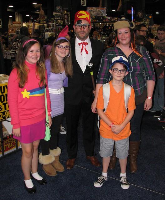 Gravity Falls costumers at Boston Comic Con 2015