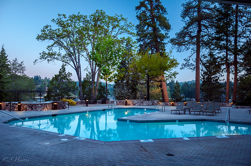 reflection green pool sunrise lakearrowhead