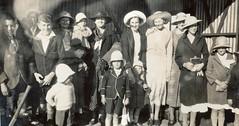 Picnic party waiting at Calomba Station 1936