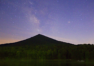 Milky Way Erupts Out Of  Sharp Top Mountain - Peaks Of Otter