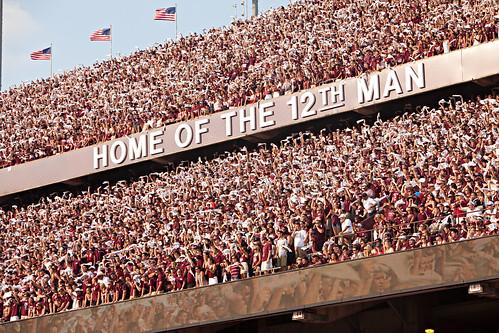 Home of the 12th Man Angle - Alabama Game