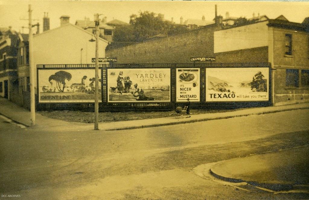 Advertising at Maclaggan Street 1935