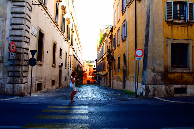 Street view, Rome