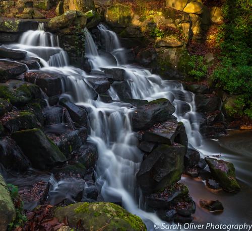 virginiawater england unitedkingdom gb waterfall cascade slow water rocks wentworth virginia lee big stopper long exposure surrey canon 6d