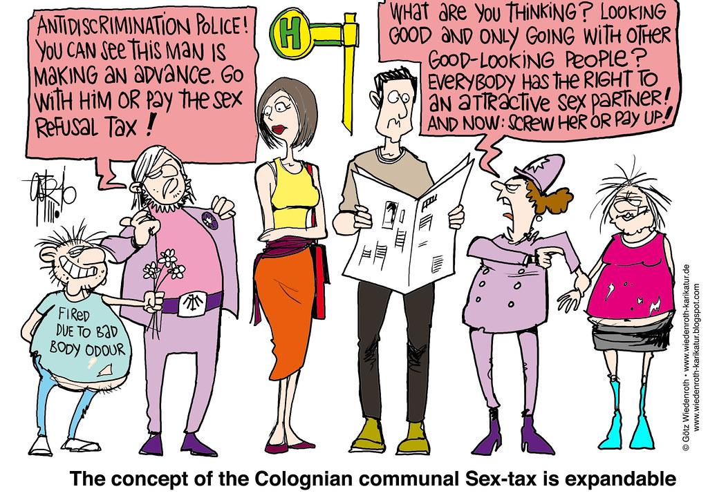 Karikaturen Sex-Bild