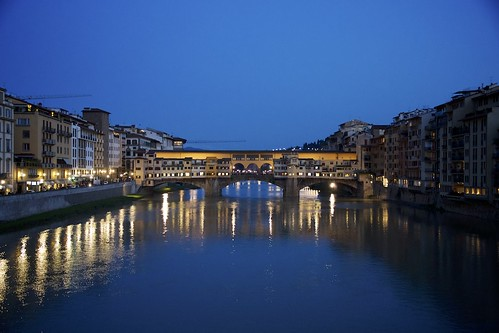 sunset night florence tramonto clear firenze arno pontevecchio