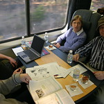 Family conference on the Acela