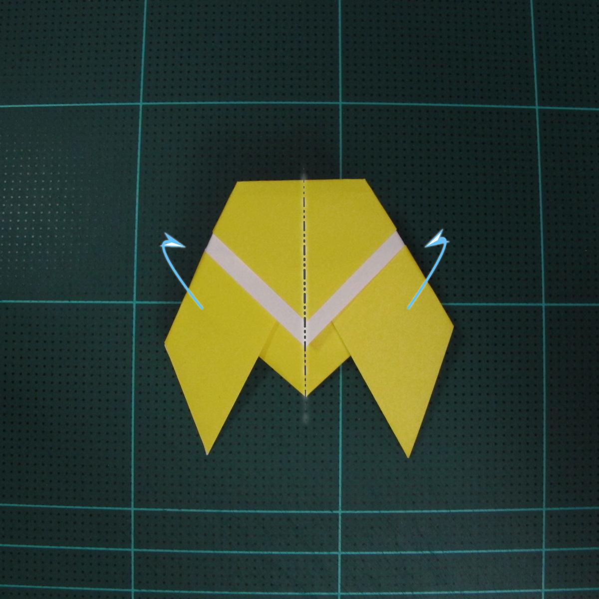วิธีพับกระดาษเป็นรูปจั้กจั่น (Origami Cicada) 007