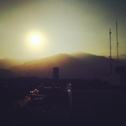 sunset mountain color square landscape honduras squareformat rise sanpedrosula iphoneography instagramapp