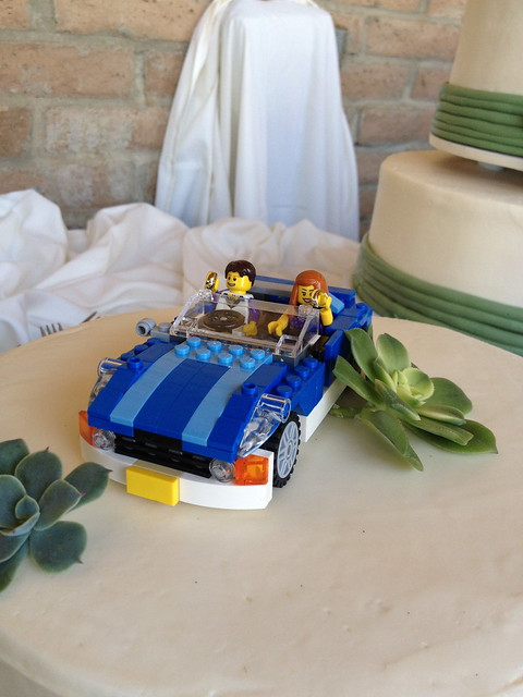 Lego cake topper | Made by Victoria, with rings from Lord of… | Flickr
