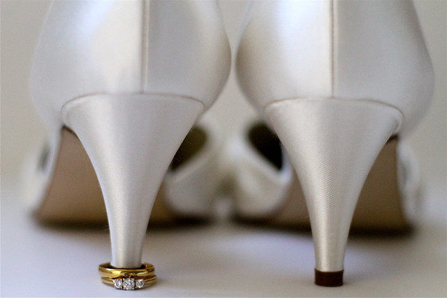 These shoes were made for walking...down the aisle!