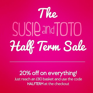 The Susie and Toto Half Term SALE is here. Use the code HALFTERM at the checkout and receive 20% off on everything! For this week only... Http://susieandtoto.com/ | by thisisenzo