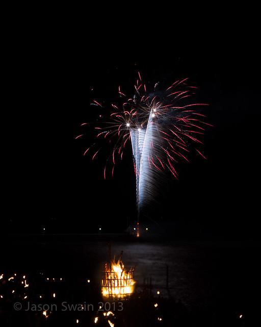 Bonfire night firework party, Yarmouth, Isle of Wight - IMG_5717