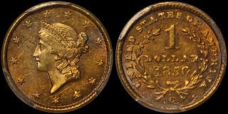 1850-C $1.00 PCGS MS62 | by RareGoldCoins.com