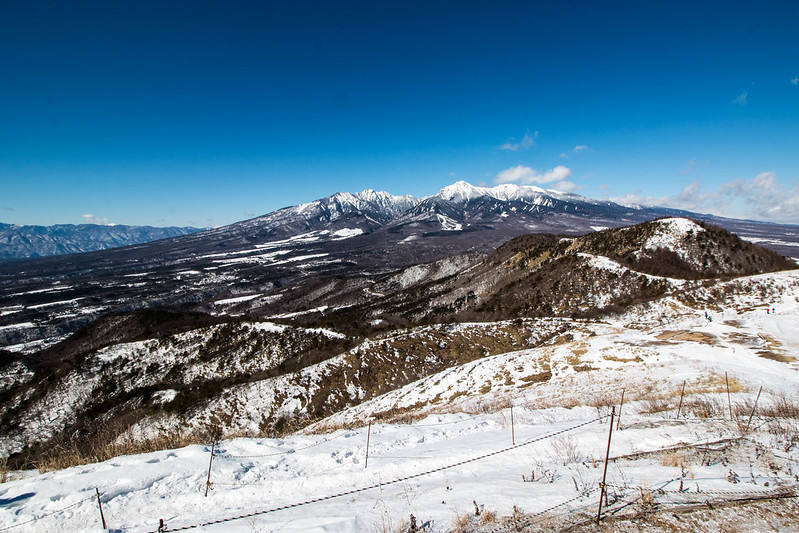 冬の飯盛山から八ヶ岳の展望
