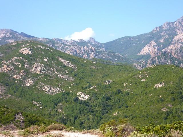 """Le """"fin fond"""" de la vallée du Cavu avec le Castedducciu au loin"""