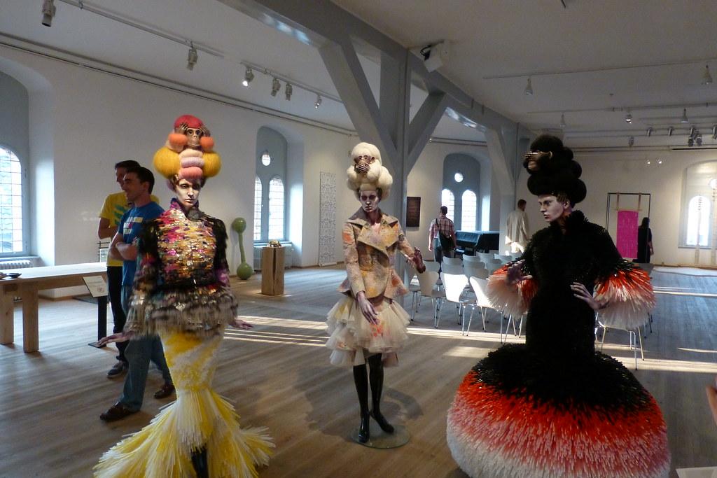 Art exhibit in The Round Tower, Copenhagen, Denmark