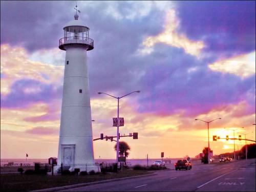 sunset gulfofmexico mississippi pointandshoot biloxi lateafternoon ushighway90 biloxilighthouse corelpaintshoppro 5thorderfresnellens harrisoncountymississippi nikoncoolpixs01