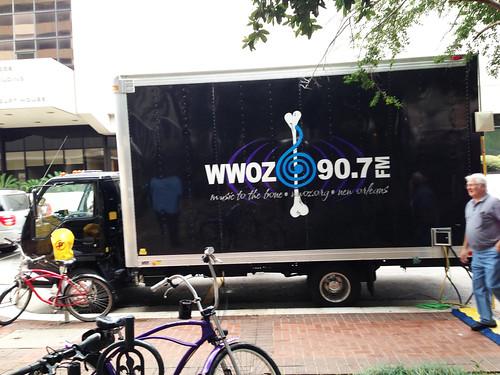 WWOZ truck is everywhere.