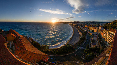 Sunset Panorama Nizza | by Julien Sanine