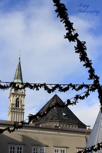 Der Himmel über Salzburg.