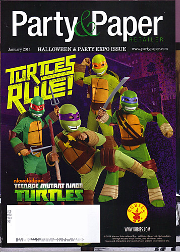 "Party & Paper Retailer,v.XXIX NO.1 // ""TURTLES RULE!"" ..mailing cover (( January 2014 )) by tOkKa"