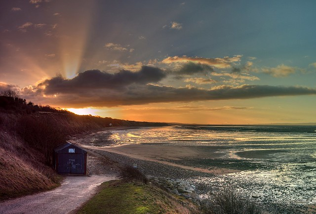 Wirral slipway sunrise (explore)