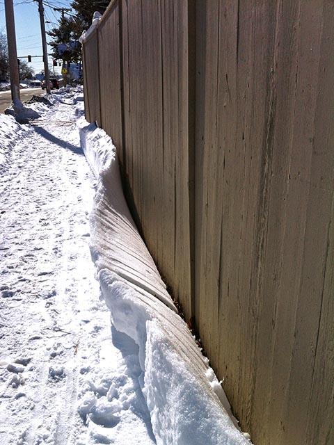 Peeling Snow