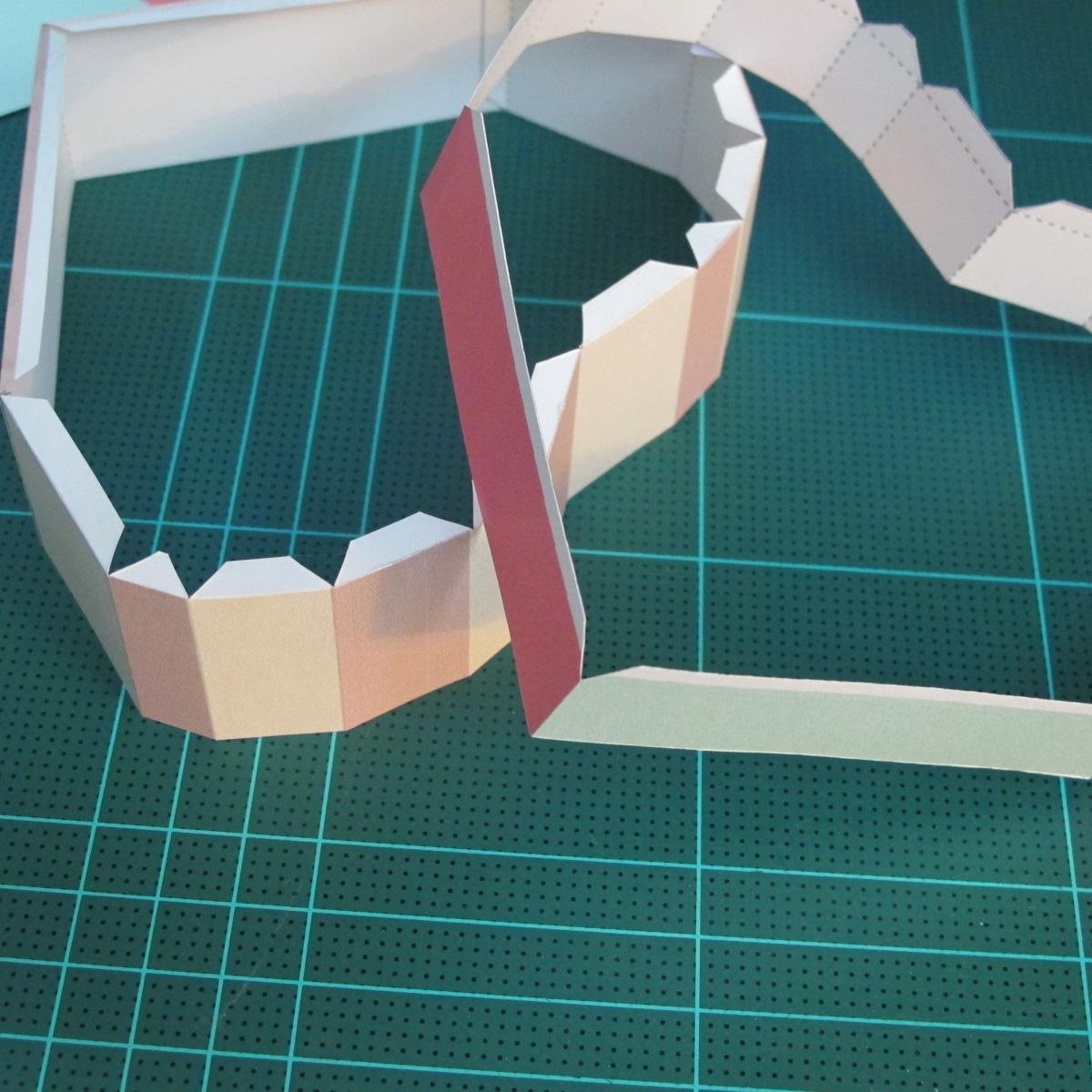 วิธีทำโมเดลกระดาษเป็นกล่องของขวัญรูปหัวใจ (Heart Box Papercraft Model) 008