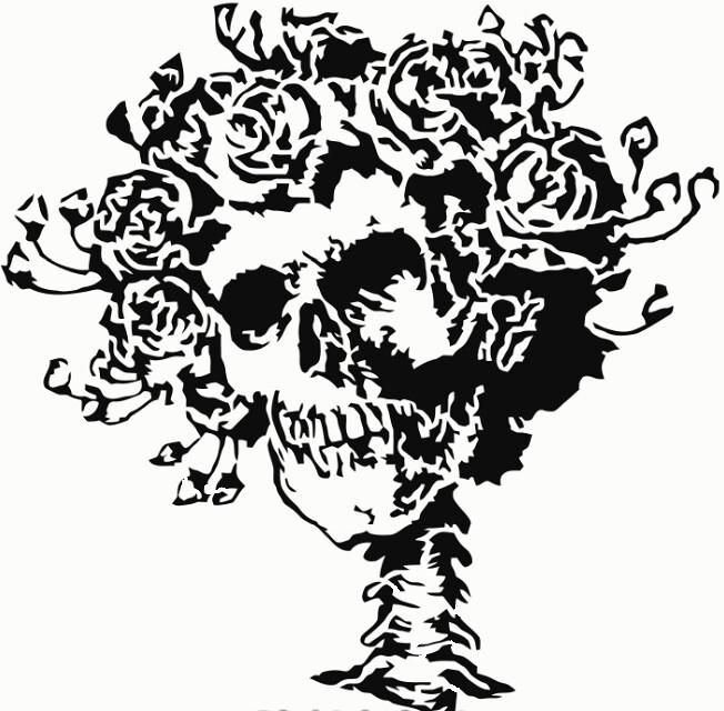 Grateful Dead Skull Roses Logo Three Layer Stencil Ori Flickr