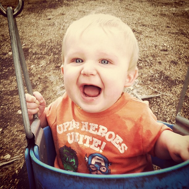 Somebody likes to swing!