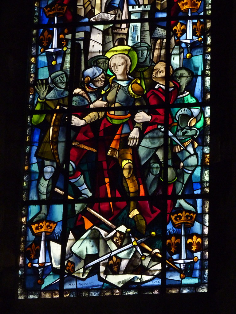 Rouen cathedral - St Jeanne d'Arc window