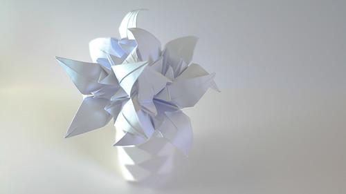 ดอกลิลลี่กับแจกันสีขาว 002