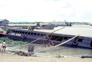 Dinh Tuong Province 1972 - Ferry crossing Dinh Tuong to Vinh Long on QL4