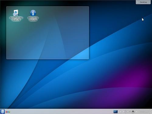 Kubuntu 14.04 Alpha 2 Desktop | by LinuxSnap